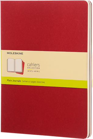 Cahier Journals CAHIER JNLS XL PLA CRANB.RED