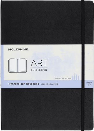 Watercolour Notebook ART WATERCOLOUR NTBK A4 BLACK