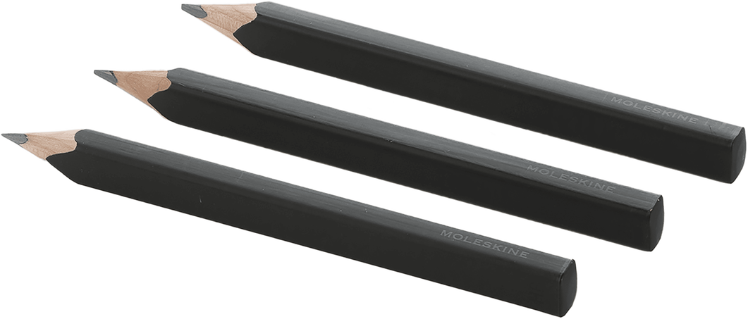 Juego de 3 lápices negros BLACK PENCILS - SET OF 3