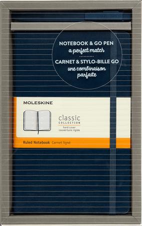 Set mit Classic Notizbuch und Go Pen BUNDLE VERTICAL LG +GO PEN SAP.BLUE