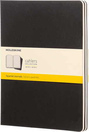 Cahier Journals CAHIER JNLS XL SQU BLACK