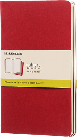 Cahier Journals CAHIER JNLS LG PLA CRANB.RED