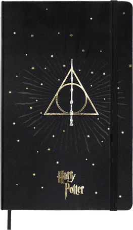 Harry Potter Notebooks LE NB H.POTTER LG RUL BOOK 7 BLACK